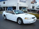 2000 Crystal White Ford Mustang V6 Convertible #8493030