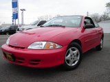 2002 Bright Red Chevrolet Cavalier Coupe #8480642