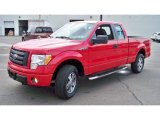 2010 Vermillion Red Ford F150 STX SuperCab 4x4 #85066437