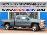 2014 Blue Granite Metallic Chevrolet Silverado 1500 LTZ Z71 Double Cab 4x4 #85066783