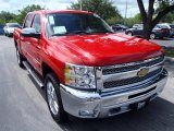 2013 Victory Red Chevrolet Silverado 1500 LT Crew Cab 4x4 #85120437