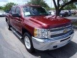 2013 Deep Ruby Metallic Chevrolet Silverado 1500 LT Crew Cab #85120436