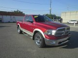 2010 Inferno Red Crystal Pearl Dodge Ram 1500 Laramie Quad Cab 4x4 #85120422