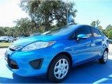 2013 Blue Candy Ford Fiesta SE Sedan #85119795