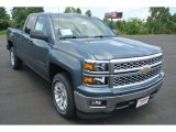 2014 Blue Granite Metallic Chevrolet Silverado 1500 LT Double Cab #85120244