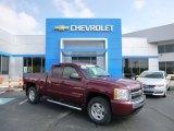 2009 Deep Ruby Red Metallic Chevrolet Silverado 1500 LT Extended Cab 4x4 #85119929