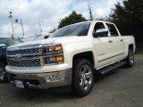 2014 White Diamond Tricoat Chevrolet Silverado 1500 LTZ Crew Cab 4x4 #85184476