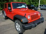 2014 Jeep Wrangler Unlimited Flame Red