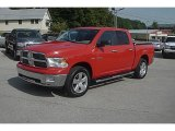2009 Flame Red Dodge Ram 1500 Big Horn Edition Crew Cab 4x4 #85230944