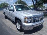 2014 Silver Ice Metallic Chevrolet Silverado 1500 LT Double Cab #85254804