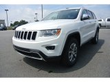 2014 Bright White Jeep Grand Cherokee Limited 4x4 #85254762