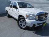 2008 Bright White Dodge Ram 1500 Lone Star Edition Quad Cab #85269719