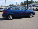 Dark Sapphire Blue Hyundai Accent in 2009