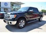 2011 Ebony Black Ford F150 Lariat SuperCrew 4x4 #85310118