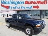2004 Patriot Blue Pearl Dodge Dakota SLT Quad Cab 4x4 #85309856