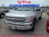 2013 Silver Ice Metallic Chevrolet Silverado 1500 LT Crew Cab #85356193