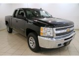 2013 Black Chevrolet Silverado 1500 Work Truck Extended Cab 4x4 #85356585