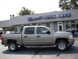 2009 Graystone Metallic Chevrolet Silverado 1500 LS Crew Cab #85356488