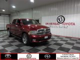 2010 Inferno Red Crystal Pearl Dodge Ram 1500 Sport Crew Cab #85356143