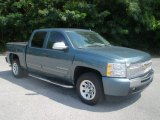 2010 Blue Granite Metallic Chevrolet Silverado 1500 LS Crew Cab #85356738