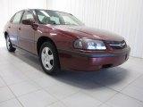 2001 Dark Carmine Red Metallic Chevrolet Impala LS #85356524