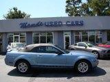 2005 Windveil Blue Metallic Ford Mustang V6 Premium Convertible #85410135