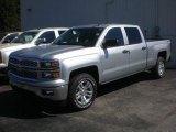 2014 Silver Ice Metallic Chevrolet Silverado 1500 LT Crew Cab 4x4 #85410448