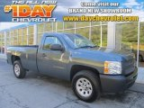 2010 Blue Granite Metallic Chevrolet Silverado 1500 Regular Cab 4x4 #85409649