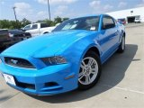 2013 Grabber Blue Ford Mustang V6 Coupe #85409724