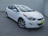 2013 Shimmering White Hyundai Elantra Limited #85410042