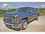 2014 Blue Granite Metallic Chevrolet Silverado 1500 LT Double Cab 4x4 #85466242