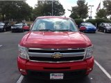 2009 Victory Red Chevrolet Silverado 1500 LTZ Extended Cab 4x4 #85499200