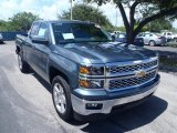 2014 Blue Granite Metallic Chevrolet Silverado 1500 LT Double Cab #85499694
