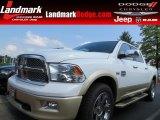 2012 Bright White Dodge Ram 1500 Laramie Longhorn Crew Cab #85498814