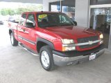 2004 Victory Red Chevrolet Silverado 1500 LT Extended Cab 4x4 #85499656