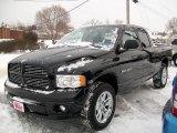 2005 Black Dodge Ram 1500 SLT Quad Cab 4x4 #8538250