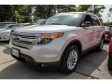 2013 White Platinum Tri-Coat Ford Explorer XLT 4WD #85499149