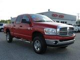 2008 Flame Red Dodge Ram 3500 Big Horn Edition Quad Cab 4x4 #8537155
