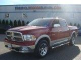 2010 Inferno Red Crystal Pearl Dodge Ram 1500 Laramie Crew Cab 4x4 #85499593