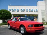 2006 Torch Red Ford Mustang V6 Deluxe Coupe #8531902