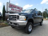 2004 Dark Green Satin Metallic Ford F250 Super Duty Lariat SuperCab 4x4 #85499228