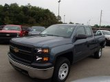 2014 Blue Granite Metallic Chevrolet Silverado 1500 WT Double Cab 4x4 #85498868