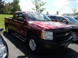 2009 Dark Cherry Red Metallic Chevrolet Silverado 1500 LS Extended Cab 4x4 #85592826