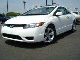 2007 Taffeta White Honda Civic EX Coupe #8534966