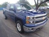 2014 Blue Topaz Metallic Chevrolet Silverado 1500 LT Crew Cab #85643092