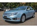 2010 Light Ice Blue Metallic Ford Fusion Hybrid #85642988