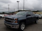 2014 Blue Granite Metallic Chevrolet Silverado 1500 LTZ Z71 Double Cab 4x4 #85642552