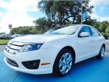 2011 White Platinum Tri-Coat Ford Fusion SE V6 #85642442