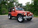2006 Impact Orange Jeep Wrangler Rubicon 4x4 #8537551