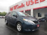 2011 South Pacific Blue Pearl Toyota Sienna LE #85642415